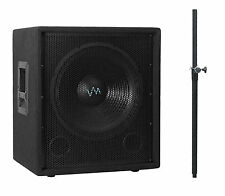 "VM Audio VAS15SUB 15"" 1500 Watt Passive Sub DJ Pro + Speaker Mounting Pole"