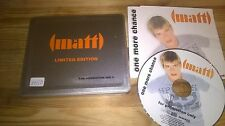 CD Pop Matt - One More Chance Ltd Edit : Metal Box (1 Song) Promo MASECO MEDIA