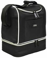 Vina Lunch Bag Cooler Tote Thermal Insulated Double Decker with Zipper Closure