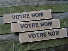 Patch bande patro LOT DE 3 - KAKI basse visibilité AIRSOFT ARMEE PAINTBALL tap