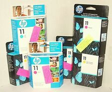 Set of 3 New sealed genuine HP 11 Color (CYM) Expired