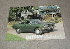 Datsun 120Y Saloon Brochure / Flyer 1976
