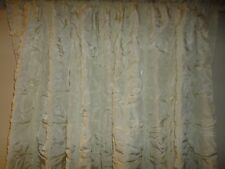 CORONA CURTAIN RUCHED (PAIR) CURTAINS IVORY POLY BLEND 50 X 86 HOLLYWOOD RETRO