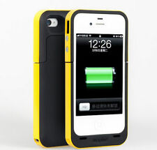 Yellow Battery Charger Case for iPhone 4 & 4s Smart Phone Cover with Cable
