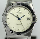 Auth OMEGA Constellation Date Silver dial Quartz Stainless steel Men's_271834