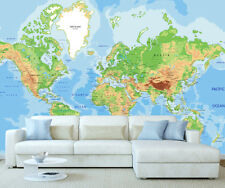 Giant Map of the World Photo Wall Mural Wallpaper World Map 400cm x 242cm 1001