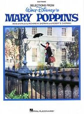 Mary Poppins Sheet Music Easy Piano Vocal Selections NEW 000316018