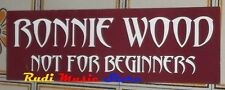 POSTER PROMO RONNIE WOOD NOT FOR BEGINNERS 15 X 50 cm NO cd dvd v lp live mc