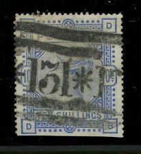 GB QV 1883 TEN SHILLINGS SCARCE EDINBURGH REGISTERED ROLLER CANCEL