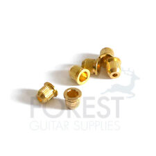 Guitar string ferrules Telecaster style gold set of 6