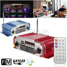 Mini HiFi Coche Casa 2-CH Audio Amplificador FM Radio USB SD MP3 Player w/Remoto