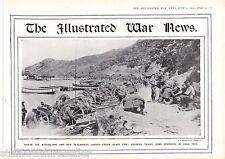 World War 1 Print 1915 Australians New Zealanders Under Heavy Fire Gaba Tepe