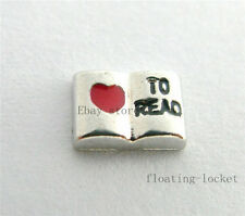 10pcs Love To Read Floating charms For Glass living memory Locket FC0862