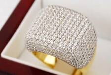 Lab Diamond 14K GOLD FINISH .925 SILVER PAVE RING MASTER ICED OUT BLING HIP HOP
