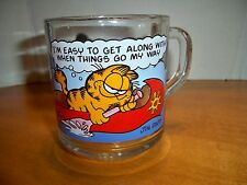 "1978 McDonalds ""I'm easy to get along with"" Garfield & Odie Glass Coffee Cup/Mug"