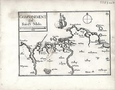Antique maps, gouvernement de sainct malo