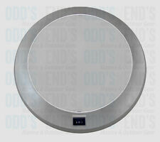 ROUND FLURO LIGHT WITH SWITCH 12V - SILVER FRAME 250MM