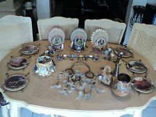 HUGE NATIVE AMERICAN COLLECTIBLES LOT OF 18 ITEMS-BRADFORD EXCHANGE MOSTLY-