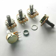 10x B10K Ohm Linear Taper Rotary Potentiometer 15mm Shaft Nuts Washers LOUS