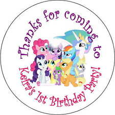 12 my little pony stickers Birthday Party loot bag 2.5 Inch Personalized