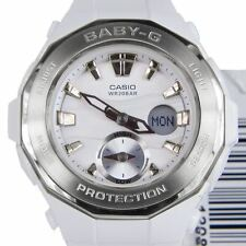 Casio Baby-G Ladies Wrist Watch BGA220-7A BGA-220-7ACR White Silver Digi-Analog