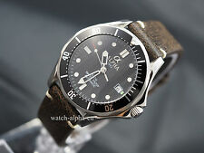 Alpha Seamaster mechanical automatic men's watch, vintage strap