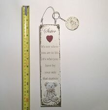 Sister Teddy Bear Wall Plaque & Key Ring Gift Ideas for  Her For Birthdays