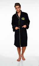Batman Herren Fleece Bademantel DC Comics Bath robe Mantel Saunamantel Sauna neu