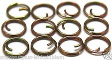 """Small Mil Spec 7/16"""" = 13mm Zinc Button Rings fasteners NO SEW lot of 12  B115"""