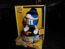 BLUE M & M CANDIES SAX PLAYING MUSICAL COLLECTIBLE....M & M ROCK STARS....