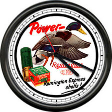 Remington Duck Hunting Hunter Shot Gun Shells Dealer Sign Wall Clock
