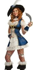 Bonnie Blue Sexy Female Pirate Adult Womens Buccaneer Costume - Size 6-12 - Fast