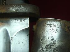1939 WWII GERMAN MAUSER BAYONET Coppel GmbH (with original scabbard)