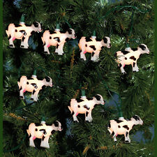 KURT S. ADLER NOVELTY COW CHRISTMAS LIGHTS 10 LIGHT SET