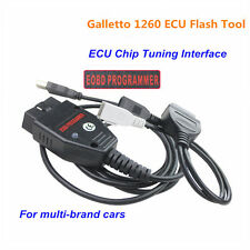 OBD2 EOBD ECU Galletto 1260 Flasher Chip Programmer Read Write Tuning Cable VAG