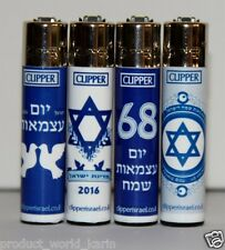 CLIPPER Full Series 68 to ISRAEL Full Size Refillable Original Lighters 4pcs NEW