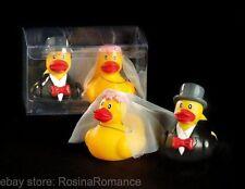 Onorevole & Mrs sposa e sposo anatre in gomma scatola regalo scherzo divertente matrimonio Hen Stag Night