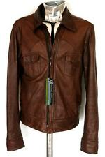 Dolce & Gabbana Leather Sheepskin Jacket Brown EU52 XL RRP£1295 D&G