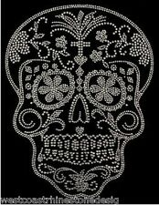 Skull Crystal Rhinestone Iron on Transfer     5LH7