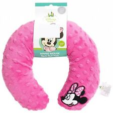 NWT Disney Minnie Mouse Baby Girl Pink Plush Velour U-Shape Travel Neck Pillow