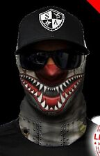 Salt Armour Tiger Shark Face Shield Sun Mask Balaclava Neck Gaiter Bandana USA