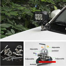 2 Pcs Car Offroad LED Work Lamp light Mount Bracket Holder 304 Stainless Steel