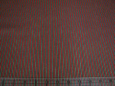 3 Yards Cotton Fabric- Quilting Treasures Traditions Red Green Met Gold Stripe