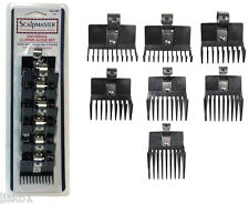 Scalpmaster #SCG-SET 7-pc. Hair Clipper universal comb guide set, w-metal clip