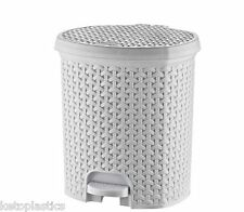 11.5 Litre bathroom White Pedal Bin Waste Dustbin Kitchen 29 x 24 x 33 cm