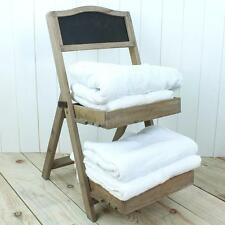 Bathroom towel stand table holder rail organiser wood country rustic towels