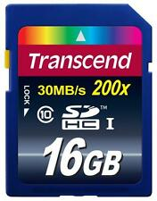 16GB Transcend Ultimate SDHC CL10 Secure Digital Memory Card