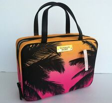 Victoria's Secret Hanging Travel Case Makeup Cosmetic Bag Palms. New.