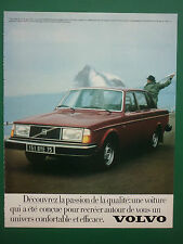7/1979 PUB AUTOMOBILE VOLVO 244 GL 11CV VOITURE CAR ORIGINAL FRENCH ADVERT