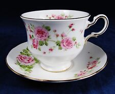 PINK ROSES Cup and Saucer Set for AVON 1974  Fine Bone China England
